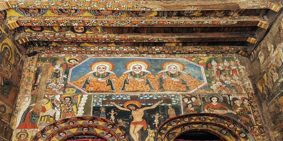 Intérieur de l'Eglise orthodoxe - Gondar